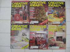 Lot 6 Vintage 1980s CREATIVE IDEAS FOR LIVING Magazines Crafts Christmas Country