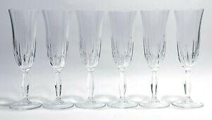 Bicchieri di cristallo servizio vintage per champagne set calici ROYAL TUDOR