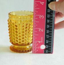 """Vintage Amber Indiana Glass Hobnail Candle Holder Votive Cup  3"""""""