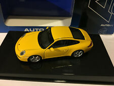 AUTOART 57882 PORSCHE 911 (997) CARRERA S 1/43 SCALE YELLOW VERY RARE