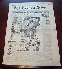 The hockey news vol 12 no.8 November 22 1958  Jacques Plante