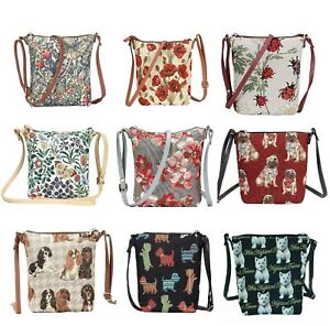Signare Tapestry Small Crossbody Sling Handbag Choice of wonderful patterns
