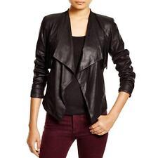 Dylan Gray 1322 Womens Black Leather Fringe Pocket Jacket S BHFO