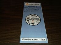 JUNE 1995 AMTRAK CALIFORNIA SAN JOAQUIN ROUTE PUBLIC TIMETABLE
