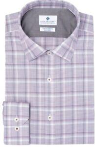 Men's Ryan Seacrest Distinction Slim Fit Shirt, Purple Plaid