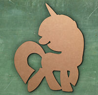 UNICORN PONY SHAPE LASER CUT MDF WOODEN SHAPE Wood Craft Arts Hobby Card Making