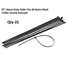"24"" Long Heavy Duty Cable Ties DuPont 66 Nylon Black175 Lbs tensile strength"