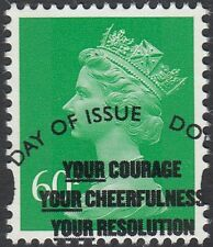 GB Stamps 2010 Machin Definitive 60p Emerald, 2 Bands, S/G Y1785