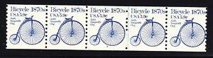 US 1901 MNH 1983 5.9¢ Bicycle PNC 5 Plate #3 Line