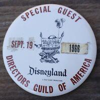 Rare 1966 Disneyland Directors Guild of America Special Guest Pin Pinback Disney