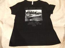The Queen Mary Maiden Voyage 1936 Black Cotton T-Shirt - Women's sz XL/XXL