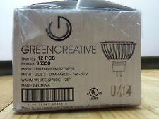 Green Creative 12pcs 95350 7MR16G3DIM/927NF25, MR16 GU5.3 7W-12W 2700k, LED Bulb
