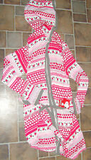 Snoopy Peanuts size S/M robe hearts pink reds gray white womens NEW $68 NWT