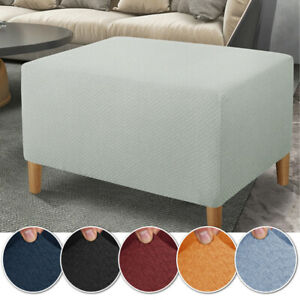 Stretch Footrest Sofa Cover Ottoman Cover Slipcover Spandex Soft Rectangle Stool