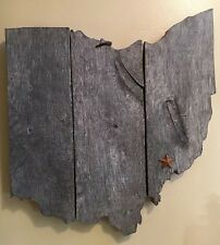 State outline vintage barn wood wall hanging, custom made, Any State.
