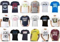 Jack and Jones Mens Boys Designer Graphic T-shirts Top, S M L XL 2XL, New, SALE