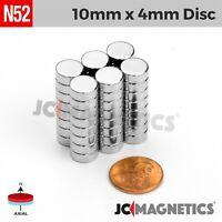 """5 10 25 50pc 10mm x 4mm 3/8"""" x 5/32"""" N52 Strong Disc Rare Earth Neodymium Magnet"""