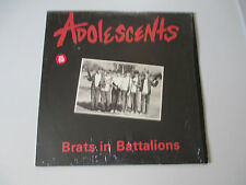 ADOLESCENTS-BRATS IN BATTALIONS-LP RECORDS-SHRINK-RED COLORED VINYL-NM-LIMITED