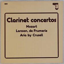 CLARINET CONCERTOS: Mozarts OPUS 3 Audiophile Kjell Fageus OOP LP NM Vinyl