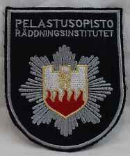 Swedish EMS/Fire/Rescue Institute Patch Räddningsinstitutet by Pelastusopisto