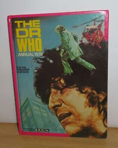 BBC The Dr Who Annual 1978. Tom Baker as Doctor Who. Hardback book