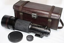 AS IS Tokina AT-X SD 150-500mm F/5.6 MF Lens for Minolta MD w/ Lens Case