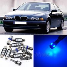 Error Free Blue 11pcs Interior LED Light Kit for 1997-2003 BMW 5 Series E39 M5