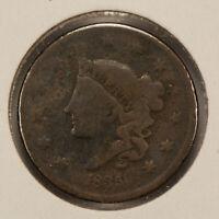 1835 1c Coronet Head Large Cent SKU-Y2515