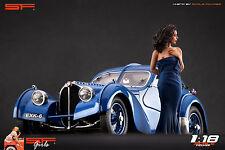 1/18 Long blue dress girl figure VERY RARE !! for1:18 CMC Autoart Ferrari