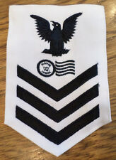 Us Navy Postal Clerk Rating Petty Officer First Class White Navy Uniform Patch