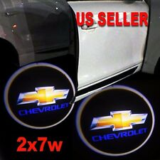 2x7w Ghost Shadow Projector Laser Logo LED Door Step Light Courtesy for Chevy