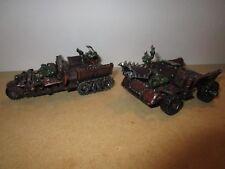 Warhammer 40k Ork Trukks Painted OOP X2