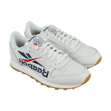 869d6ee4b88 Reebok Classic Leather 3Am Mens White Leather Athletic Training Shoes