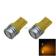 2x Yellow RV T10 W5W Reverse Light Backup Bulb 1 COB SMD LED 464 555 558 A069