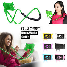 Universal Lazy Hanging Neck Phone Holder Mount Desktop Bed Car Selfie Bracket