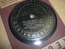 JIMMIE RODGERS MONTGOMERY WARD 78 RPM RECORD 4224 YOU AND MY OLD GUITAR