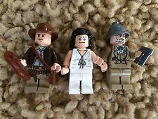 3 Lego Indiana Jones Minfigures Marion Ravenwood Henry Sr. Jones 7682 7198 Lot 5