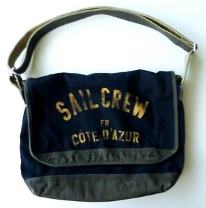 GAP Boys Bag Messenger Shoulder Navy Sail Crew Vintage Canvas Junior Nautical