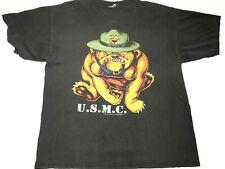 Vintage USMC T shirt Marines Bulldog 3D  XL Pop tops 1995