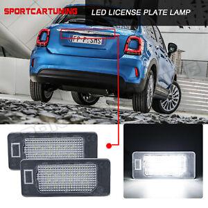 2x Weiß LED Kennzeichenleuchten Für 2014-2020 Fiat 500X Kennzeichen Licht Lampen