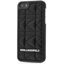 Coque Karl Lagerfeld noir matelassée pour iPhone SE et iPhone 5s