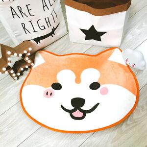Flannel Shiba Inu Floor Mat Cute Kabosu Sleeping Mat Doge Bedroom Anti-skid Mat
