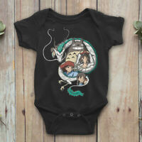 Spirited Away Studio Ghibli Baby Bodysuit 0-18 m, Baby Onepiece 100% Cotton