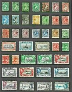 FALKLAND Islands Stamp COLLECTION Victorian to George VI MINT USED Ref:QV859a