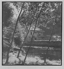 c1935 anonyme bord de rivière tirage argentique Moulin de Cabrerets ? LOT 46