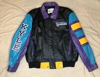 RARE Vintage Kyle Petty Leather Jacket - Mello Yello Racing -Excelled- Size XL