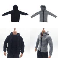 Sweat à Capuche Zippé à L'échelle 1/6 Homme Pour Figurine De 12 ''