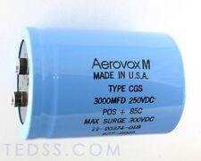 1x 3000uF 250V Large Can Electrolytic Aluminum Capacitor 3000MFD 250VDC 85C 300V