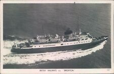 Postcard Shipping Ferries British Railways S,S Brighton Real photo  unposted