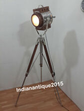 Beautiful Search Light Wooden Spot Light With Teak Tripod Stand Home Decor